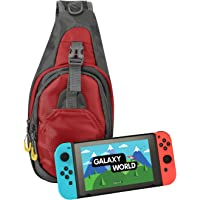 HDE Backpack for Nintendo Switch Crossbody Travel Bag for Console Games Joy-Cons and Accessories (Red)