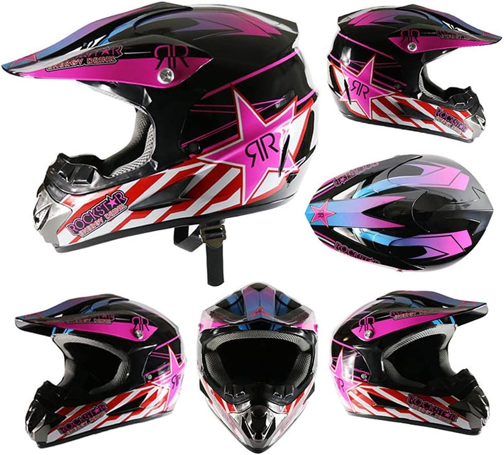 Balanka Motocross Quad Sturzhelm Gesicht Off Road Downhill Dirt Bike Motorradhelm f/ür M/änner Frauen,S