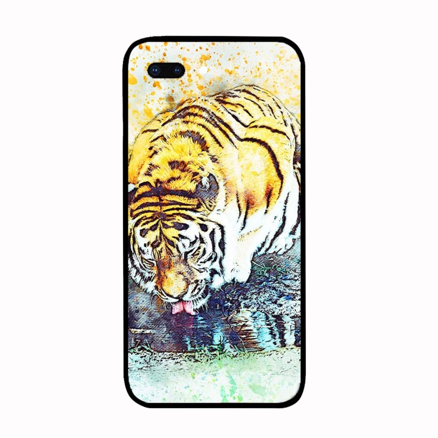 Amazon.com: iPhone Case for Girls, Tiger Head Aquarell ...