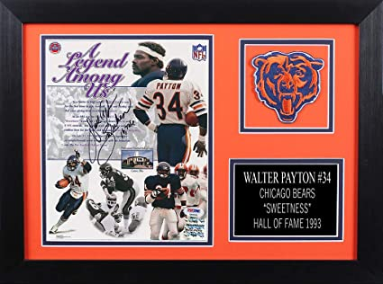 e5a96362bbc Walter Payton Autographed Bears Photo - Beautifully Matted and Framed -  Hand Signed By Walter Payton