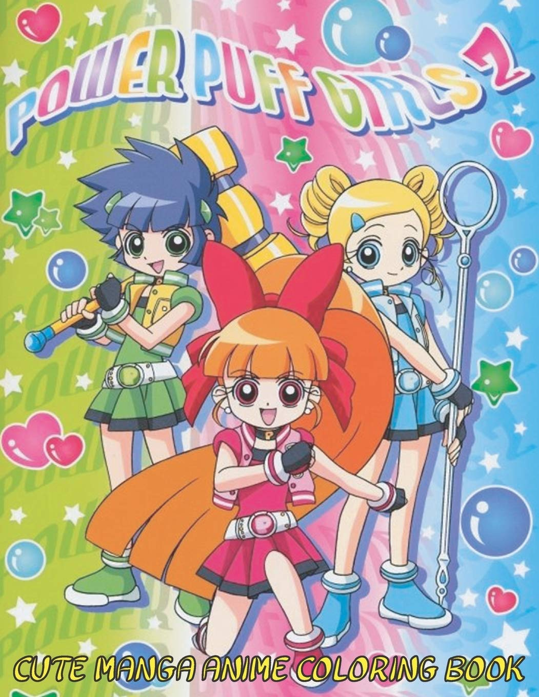 - Cute Manga Anime Coloring Book: Girl Power Super Heroes Kawaii