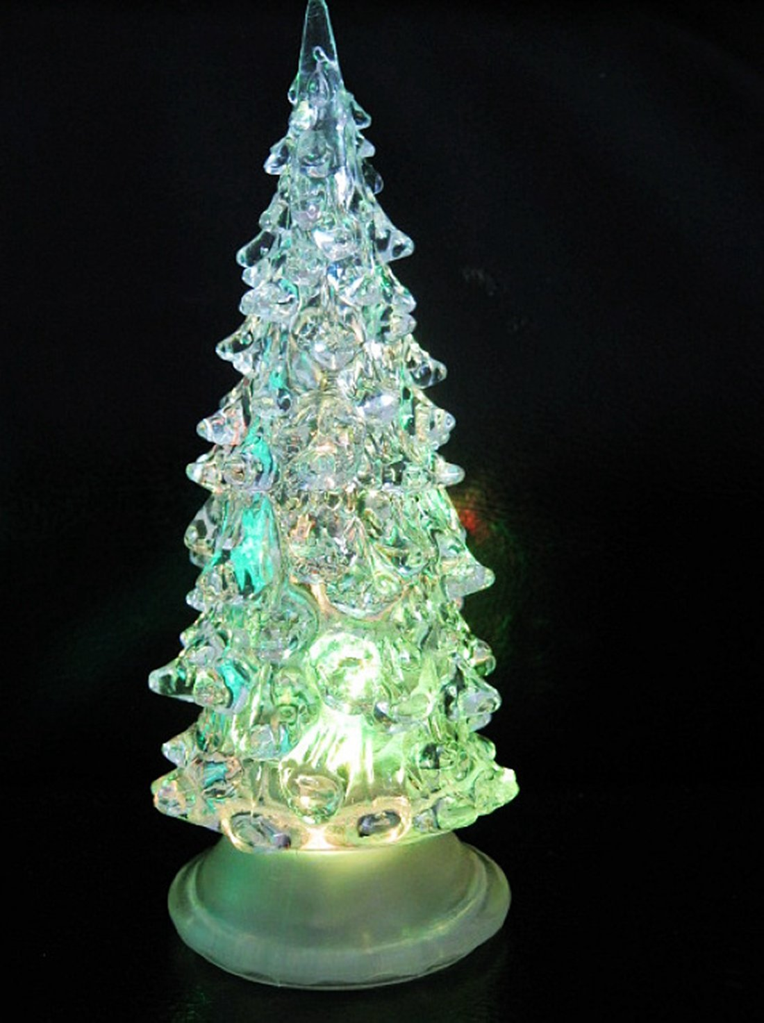 Color Changing Icy Crystal LED Christmas Tree Decoration Night Light ...