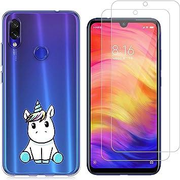 jrester Funda Xiaomi Redmi Note 7,Unicornio Azul Flexible Suave ...