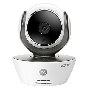 Motorola Focus 85 - Cámara de Vigilancia Inalámbrica, HD, Wifi, Interior, Fácil instalación, Detección Movimiento y Sonido, Visión Nocturna por ...