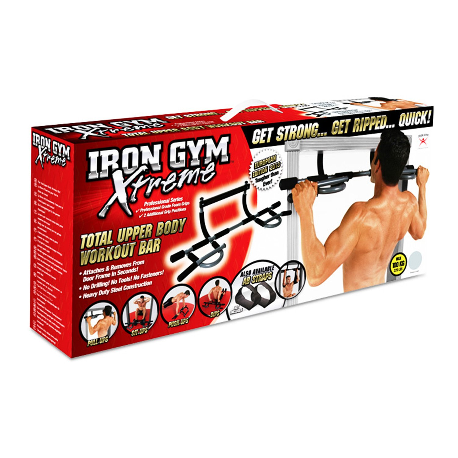 Amazon.com : Iron Gym Total Upper Body Workout Bar - Extreme Edition : Pull  Up Bars : Sports & Outdoors