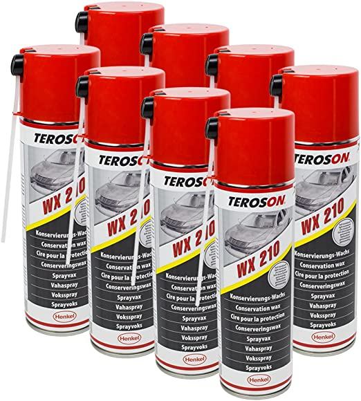 8x Teroson Wx Multi Wax Spray 500ml Corrosion Protection Spray 795890 Auto