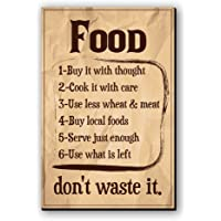 "Seven Rays Fridge Magnet ""Food-Don't waste it"""