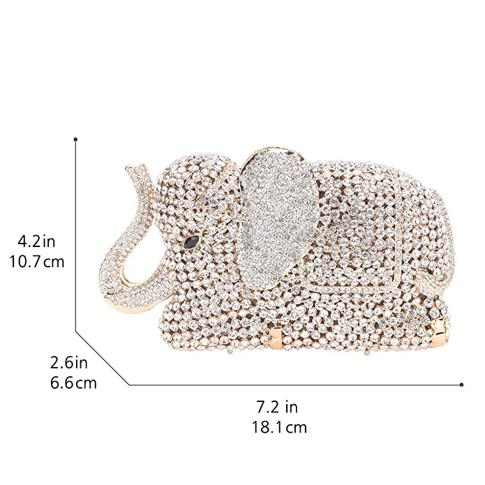 Amazon.com: fawziya vidrio Elefante Embrague cartera Boda ...