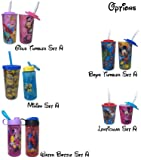 Disney Marvel Kids Character Water Bottles, Tumbler with Straw and Lid Deluxe Drinkware Gifts Set Birthday Gift Goodies Travel Home, Perfect Gifts for Girls Boys Toddlers