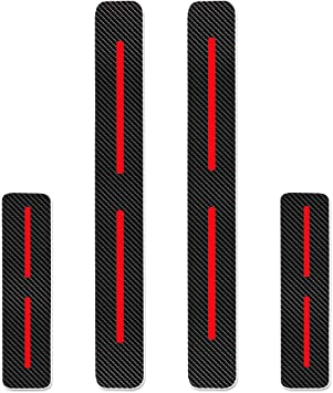 Pu/ò essere personalizzato per To yota AYGO Battitacco Auto Esterno Batticalcagno Adesivi delle Soglie delle Porte in Fibra di Carbonio con la parolaAYGO bianca 4Pcs