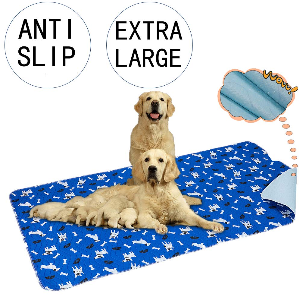 Yangbaga Washable Pee Pads for Dogs, 36x64in Extra Large Non Slip Puppy Pads, Extra Thick Whelping Pads with Great Urine Absorption, Odor Control Training Pads by Yangbaga