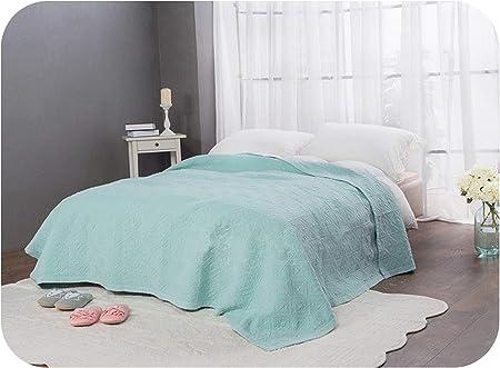 tthappy76 - Colcha de Calidad para Verano, 1 Unidad, Color Arena, algodón Lavado, Colcha Bordada, Manta para Cama, Color Azul y Rosa: Amazon.es: Hogar