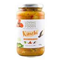 Loving Foods Organic Turmeric & Black Pepper Kimchi (500g) RAW | UNPASTEURISED | ALIVE (1 x Jar)