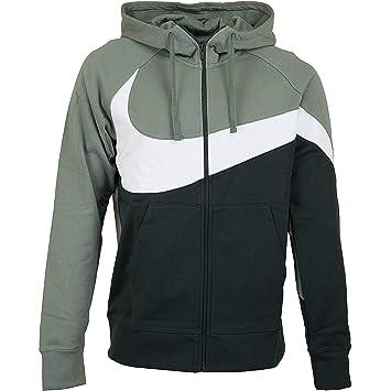 Nike M NSW Hbr FZ BB Stmt Sudadera, Hombre, Vintage Lichen/White/