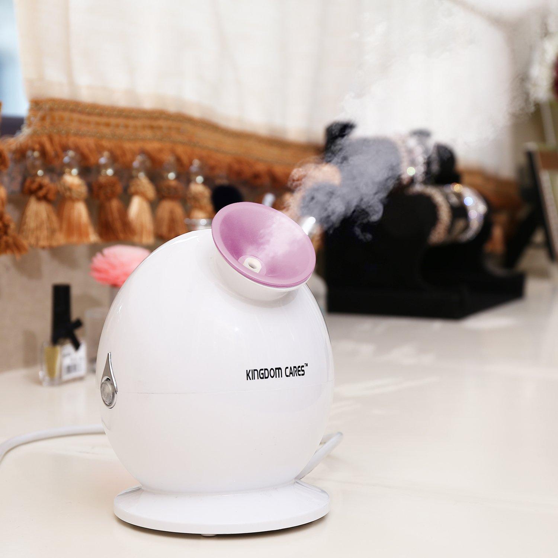 KINGDOMCARES Hot Mist Facial Steamer Warm Nano Ionic Moisturizing Face Humidifier Personal Home Sauna SPA Unclogs Pores Blackheads Acne Comedone Removal Facial Hydration System Nano Sprayer Purple AB-137004
