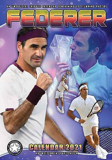 Calendrier Roland Garros 2021 CALENDRIER 2021 ROGER FEDERER   TENNIS   ROLAND GARROS   MAXI