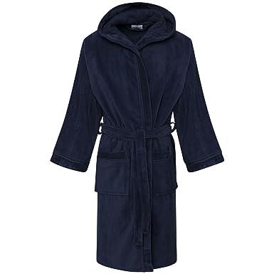 Amazon.com: Kids Egyptian Cotton Bath Robe Boys Hooded Dressing Gown ...
