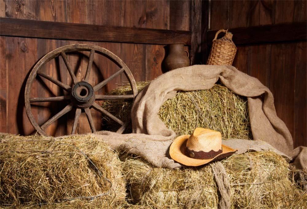 YongFoto 3x2m Vinilo Fondos Fotograficos Granero de madera viejo vintage Straw Hayloft Indoor Fondos para Fotografia Fiesta Ni/ños Boby Boda Adulto Retrato Personal Estudio Fotogr/áfico Accesorios