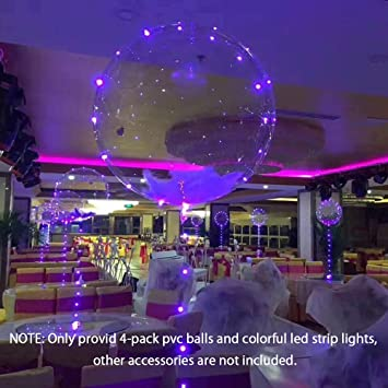 Amazon led light up balloon 3m led string bobo balloon led light up balloon 3m led string bobo balloon bubble 18 inch for outdoor junglespirit Gallery