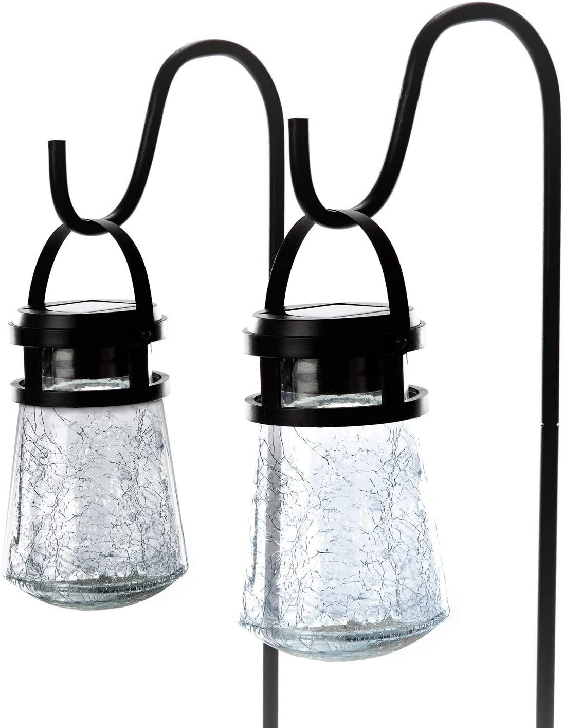 Outdoor 3000K Solar Lantern with Home Zone Security Solar Wall Lantern Lights