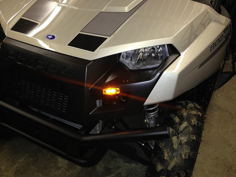 UTV//SXS//ATV Turn Signal Kit w//HORN for Kawasaki TERYX TERYX4 Brilliant LEDs