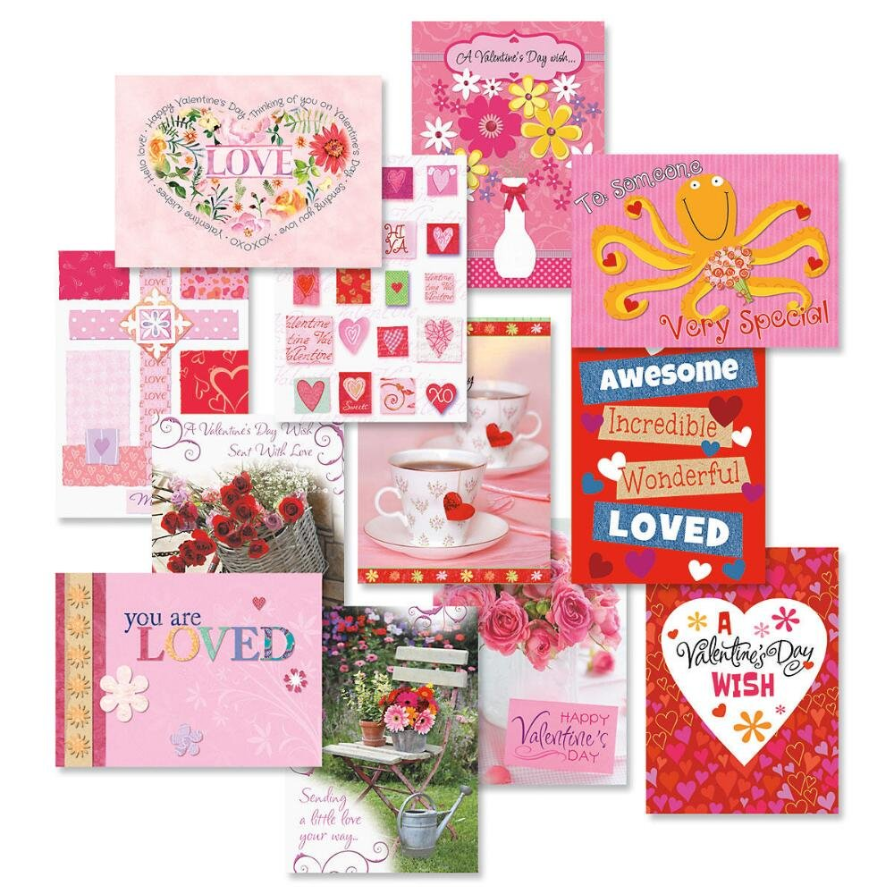 Amazon Faith Valentines Day Greeting Cards Set Of 12 1 Of