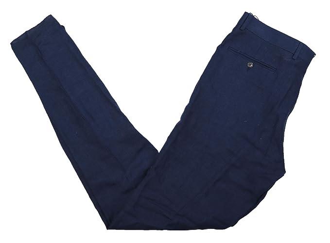 06b7476918 Polo Ralph Lauren Men s 100% Linen Solid Color Dress Pants (Navy