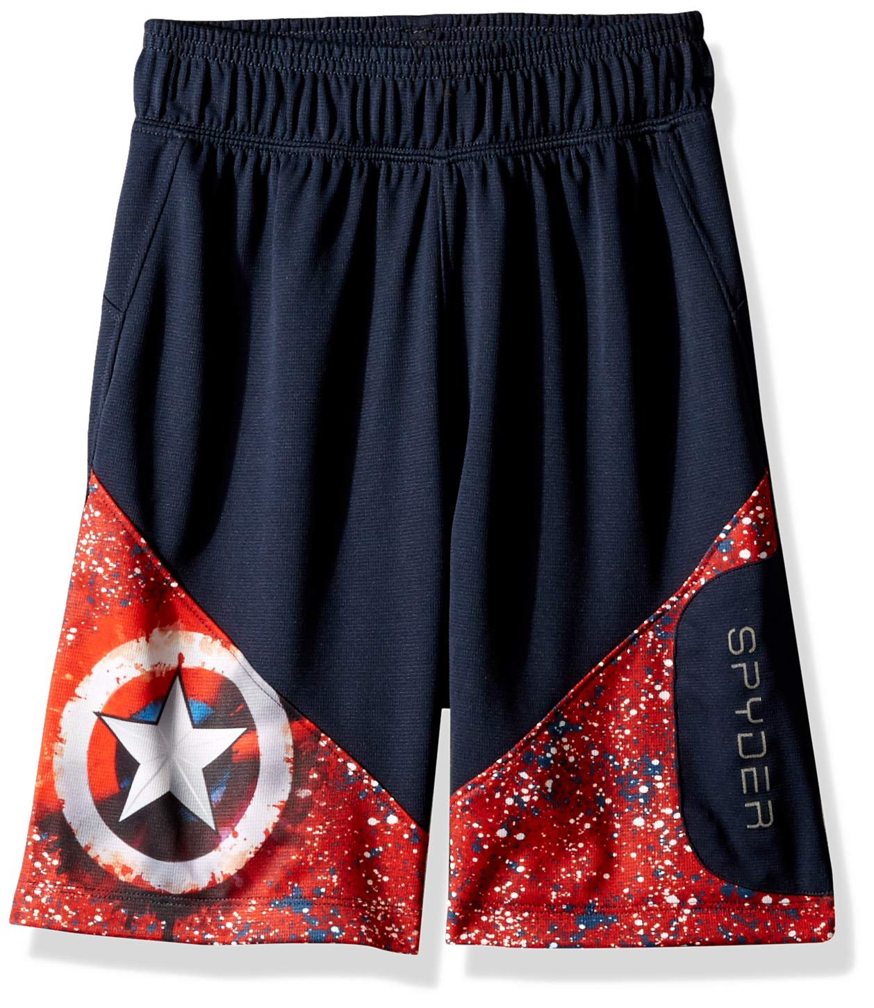 Spyder Boy's Marvel Jam Short, Frontier/Captain, X-Large