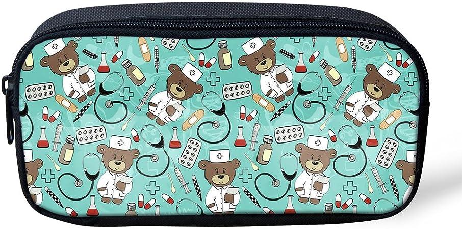 Bolso de maquillaje Nopersonality con diseño de oso de enfermera, para niñas, niños, color nurse bear3: Amazon.es: Oficina y papelería