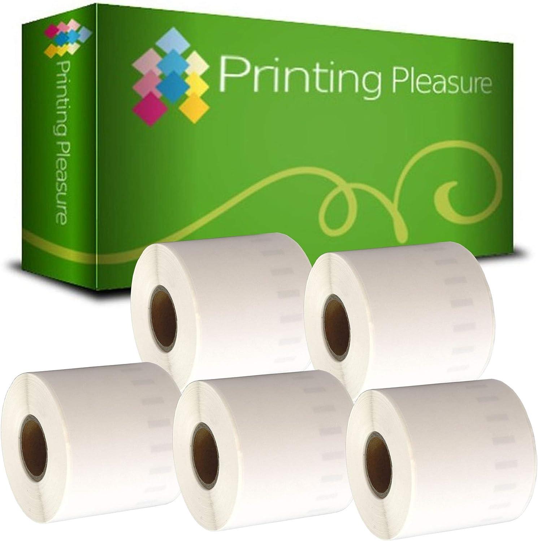 Printing Pleasure 5 x 99010 Rollen Adress-Etiketten kompatibel f/ür Dymo LabelWriter /& Seiko Etikettendrucker 130 St/ück 28mm x 89mm