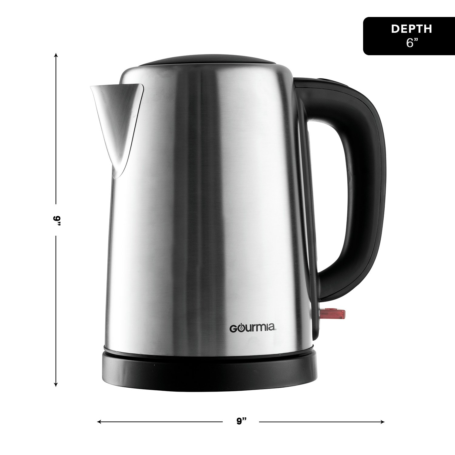Gourmia GK250 (1.8 Qt/1,7 L) Cordless Stainless Steel Kettle Supreme - Speed Boil - Auto Shutoff Boil Detect - Concealed Element - 360 Swivel Base - 1500 Watts by Gourmia (Image #6)
