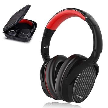 Ausdom ANC7 Auriculares Bluetooth 4.0 con cancelación de ruido activa (micrófono incorporado, batería litio
