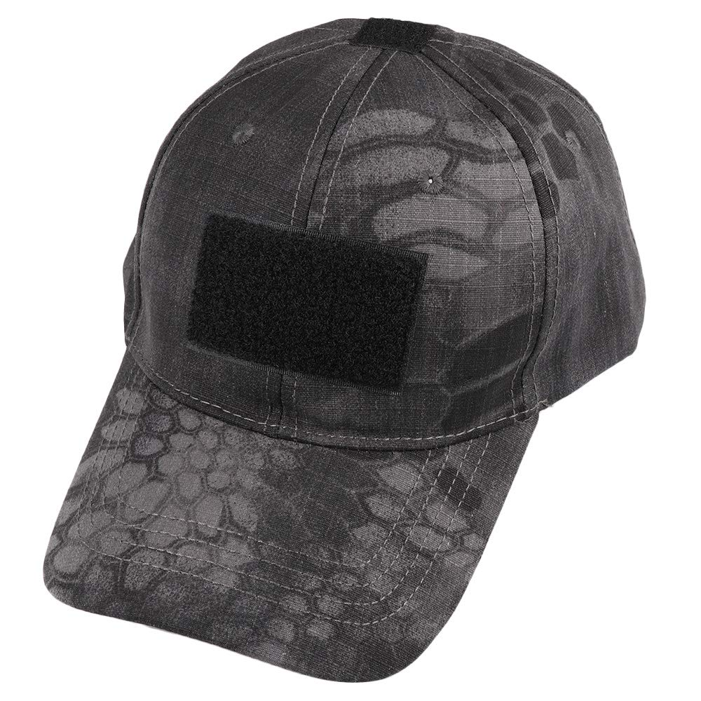 Lanking Baseball Army Tactical Camouflage Hat Peaked Cap for Running Hiking Mountaineering Travelling Python pattern