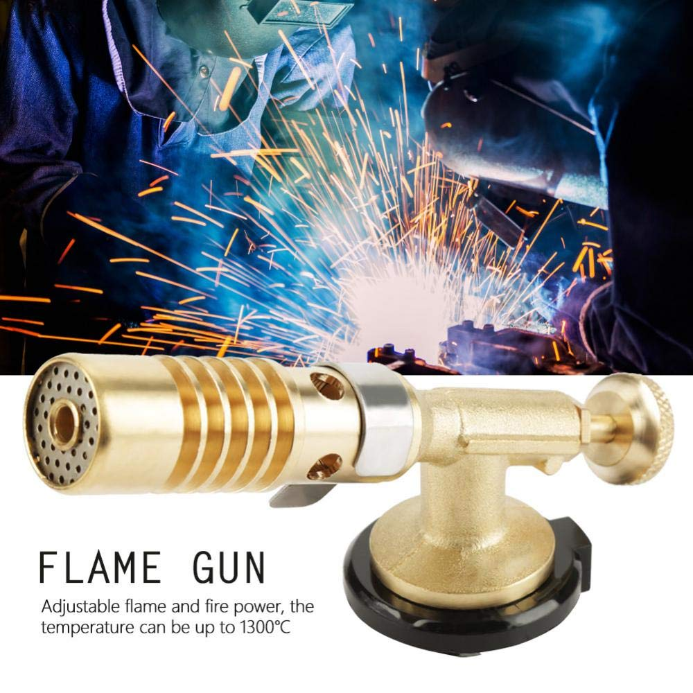 Amazon.com: Culinary Torch Welding Torch Blowtorch Professional Portable Brass Kitchen Cooking Gas Butane Welding BBQ Flame Torch [MAX 1300℃]: Kitchen & ...