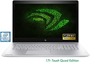 HP Envy 17t Touchscreen Gaming Laptop 17.3 Full HD 8th Gen Intel i7 up to 4GHz 1TB HDD + 128GB SSD 16GB B&O Audio WiFi HDMI NVIDIA 2GB (Renewed)