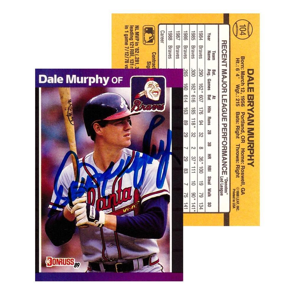 Dale Murphy Signed 1988 Donruss 104 Atlanta Braves Baseball Card
