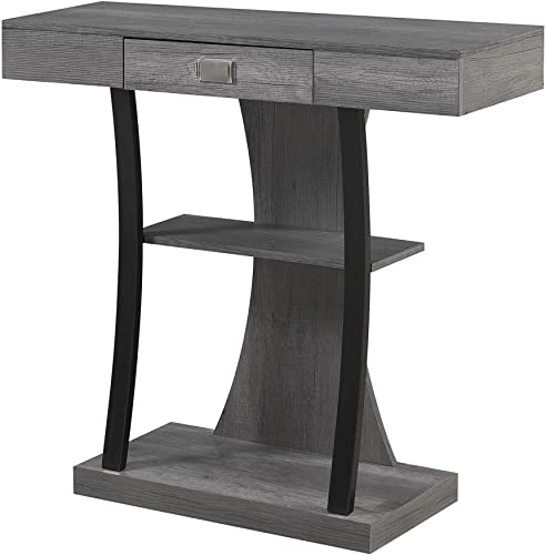 Convenience Concepts Newport Harri Console Table, Charcoal Gray