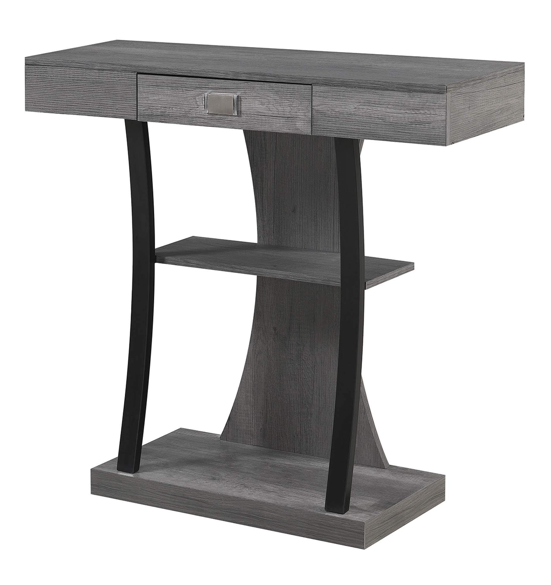 Convenience Concepts Newport Harri Console Table, Charcoal Gray by Convenience Concepts