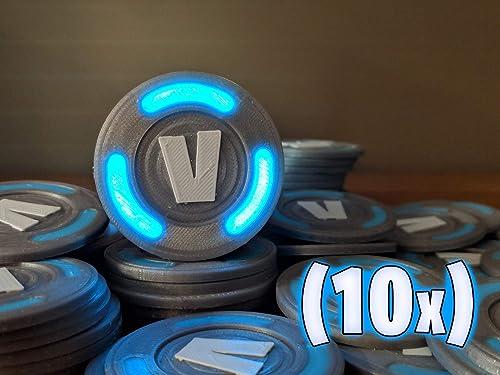 Glowing V-Bucks (10x)   vbucks coins llama battle royal gifts gamer gifts  birthday gift xbox ps4 pc