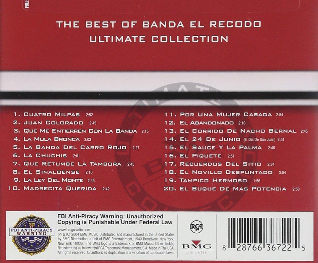 Best Of Banda El Recodo Ultima Amazon De Musik