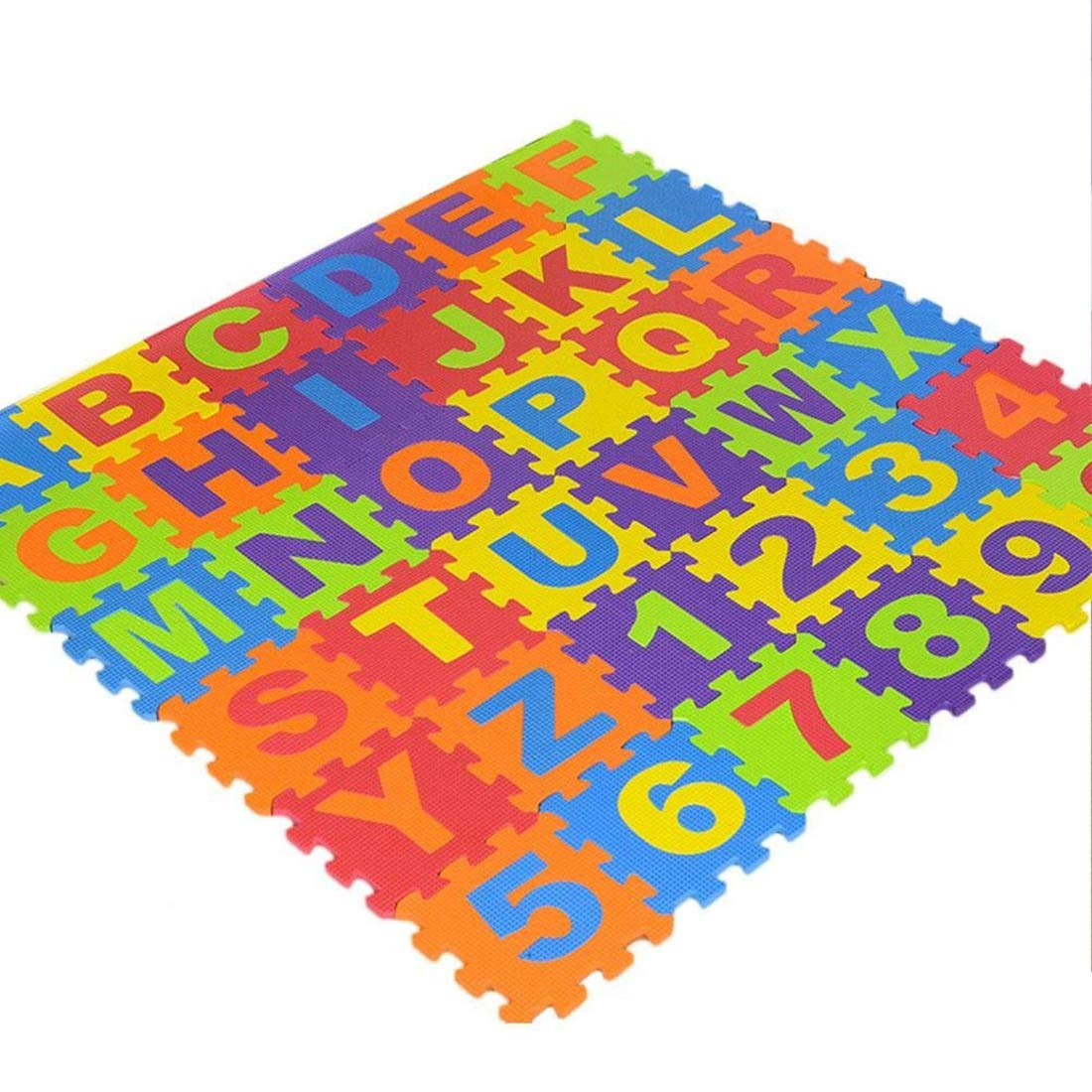 Trimming Shop 36 Pcs Soft Eva Foam Safe Play Mat Learning Alphabet Number Jigsaw Puzzle for Baby Children Kids UK