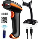 Tera 2D Barcode Scanner Wireless USB Lettore Codice a Barre Supporta Pagamento con Smartphone 433Mhz COMS per Tablet, iPhone, Android, Tablet o Computer Windows IOS