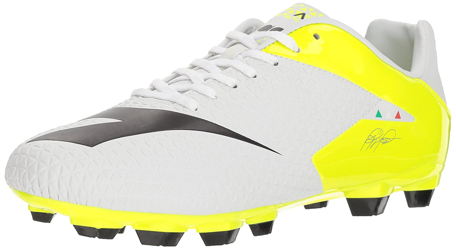 Diadora ユニセックスアダルト B076932ZMZ 12 D(M) US|White/Black/Fluo Yellow White/Black/Fluo Yellow 12 D(M) US