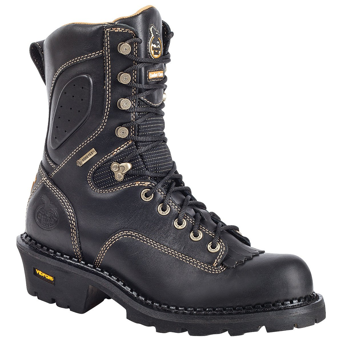 Georgia Men's Composite Toe Core Logger Boots,Black,8 M
