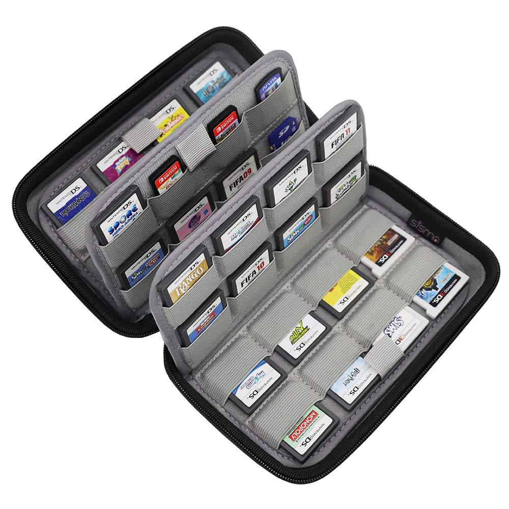 Sisma Estuche de juegos para 64 cartuchos Nintendo 3DS 2DS ...