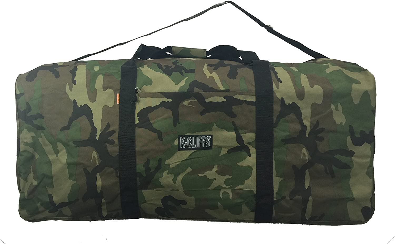 "Heavy Duty Cargo Duffel Large Sport Gear Drum Set Equipment Hardware Travel Bag Rooftop Rack Bag (42"" x 20"" x 20"", Camouflage)"
