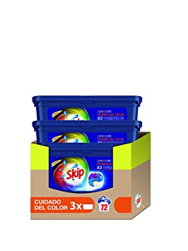 Skip Ultimate Triple Poder Cuidado del Color Detergente Cápsulas ...
