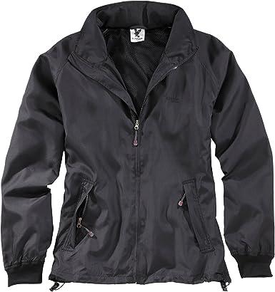 Black Windbreaker by Surplus Raw Vintage Full Zip Jacket Water Resistant New