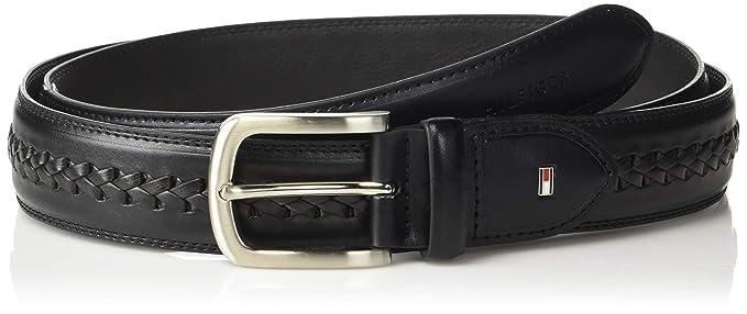 19967df22 Tommy Hilfiger Men's Double Stitched Canvas Belt, Black, ...