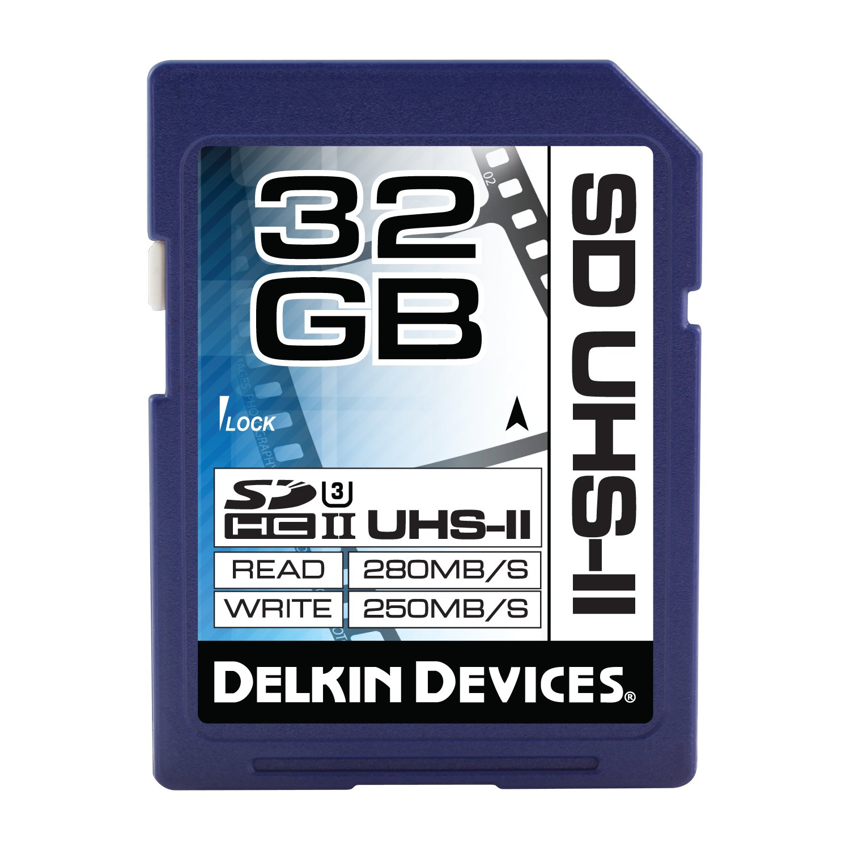 Delkin 32GB SDHC UHS-II (U3) Memory Card (DDSDUHS232GB)